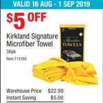 Kirkland Signature Microfibre Towel 36pk $17.99 @ Costco