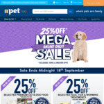 25% off @ PETstock (Some Exclusions Apply)