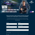 Win a Scuderia Toro Rosso Prize Pack (Including a Pair of Signed Gloves) or 1 of 9 Runner-up Prizes from Casio Computer Co. Ltd