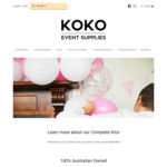 10% off - Online Party / Wedding Supplies - Eco Disposable Plates, Bowls, Cutlery & Balloons @ KOKO Event Supplies