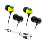 2x Yellow/Green JVC Graphiti In Earphones + Bonus Splitter -  $14.50 Delivered