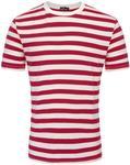 Men's Striped T-Shirt, Wide & Narrow Stripe Pattern, AU $15 + Free Shipping (~ 65% Cotton) @ Paul Jones