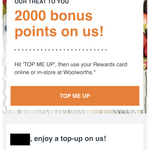2000 Woolworths Rewards Points with Any Spend