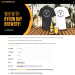 Win 1 of 10 Byron Bay Brewery Premium Lager & T-Shirt Prize Packs Worth $80 from Cellarbrations/The Bottle-O/IGA Liquor