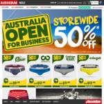 50% off Everything Storewide - Men's Underwear, Swimwear, Clothing @ aussieBum