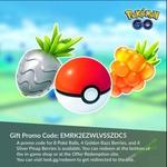 [iOS, Android] Free - 8x Poke Balls, 4x Golden Razz and 3x Silver Pinap @ Pokemon Go