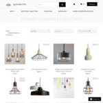 """Vintage Pendant Lamps (8 Models) under """"Clearance Sale Category""""  50% off w/ Coupon Code + Free Shipping @ Lectory.com.au"""