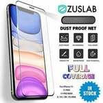 10% off, Buy 1 Get 1 Free - iPhone 11 Pro XS MAX XR X Anti-Dust Tempered Glass Screen Protector $7.15 Delivered @ ZUSLAB eBay