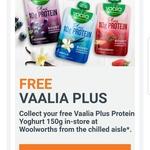 Free VAALIA PLUS Protein Yogurt 150g @ Woolworths via Woolworths Rewards (Activation Required)