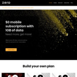Free Calls to 1300/1800, 1GB of Data, $0 Per Month ($10 Account Fee + $10 Shipping) @ Zero Mobile