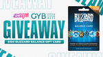 Win a $100 Blizzard Balance Gift Card from Sweeps & GrowYourBase