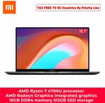 Xiaomi RedmiBook 16 Laptop Ryzen Edition with AMD Ryzen 4700U/4500U, A$1120/US$789 Delivered @ GearBest