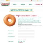 [NSW, VIC, QLD, WA] Free Original Glazed Doughnut (Newsletter Signup) @ Krispy Kreme