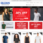 30% off Everything + Free Shipping - T-Shirts, Fleece, Tanks (Ships from Sydney Warehouse) @ Gildanbrands