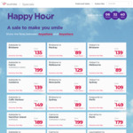 Virgin Happy Hour: Flights Nationwide from $75 One Way eg SYD to Byron Bay, Syd to MEL $89 and more @ Virgin Australia