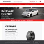 Bridgestone Potenza RE003 and Supercat SUV Tyres - Buy 3 Get 4th Free @ Bridgestone, JAX, Bob Jane, Costco
