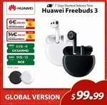 Huawei Freebuds 3 Active Noise Cancelling Wireless Earphones US$88.98 (~A$115.50) Delivered @ SIMSON HW Store AliExpress