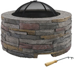 Grillz Fire Pit Table Charcoal Fireplace $224.95 Delivered @ Buyerfriendly