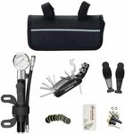Bike Repair Kit with Mini Pump, 16 in 1 Wrench Tool $9 + ($0 with Prime/ $39 Spend) @ Selfome-AU Direct Amazon AU