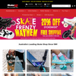 20% off Sitewide Skateboards, Scooters, Roller Skates and More + Delivery ($0 C&C/ $50 Spend) @ Skater HQ