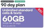 Kogan Prepaid Mobile Large (60GB) 90-Day Plan for $14.90 (New Customers Only) @ Kogan
