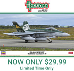 Hasegawa Hornet Aircraft Model Kit $29.99 (50% off RRP) + $9.50 Shipping ($0 for $99 Spend) @ Hobbyco