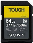 [Prime] Sony Tough-M SDXC UHS-II Card V60, Max R277MB/S, W150MB/S 64GB $56.73, 128GB $88.50 (OOS) Delivered @ Amazon US via AU
