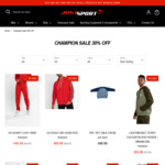 30% off All Champion (Prices from $27.99 - $76.99) Storewide + $10 Shipping @ Just Sport