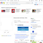 Nintendo Switch Console OLED Model White $489 + Delivery ($0 with eBay Plus) @ Big W eBay