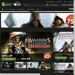 [Uplay] Assassins Creed up to 75% off, AC2, Brotherhood, Revelations -$3.75, ACIII - $12 via GMG
