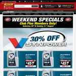 Valvoline Full Synthetic Oil, Wide Range to Choose, Today & Tomorrow, from $31.95 with Cash Back @ SCA