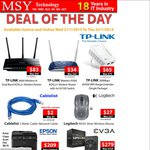 TP-LINK Wireless-N Modem Routers: N300 TD-W8960N $34, N600 TD-W8980 $83 @ MSY