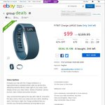 Fitbit Charge Black or Slate, Small or Large $99 Delivered Dick Smith eBay Store