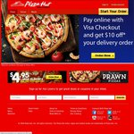 Pizza Hut - Any 3 Pizzas + 3 Sides Delivered for $31.95 ($21.95 with Visa Checkout)