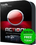 FREE: Action! 1.30 - Screen Recorder and Gameplay Recording Software @ Giveaway of The Day