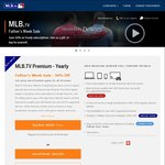 MLB.tv Yearly Premium Subscription Father's Week Sale - $49.99 USD (~$70 AUD)