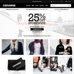 25% off Storewide @ Converse Australia. Chuck Taylor Hi Tops $75, All Star II $90, 3 Pack Crew Socks $18.75 + Delivery