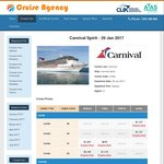 Carnival Cruise 9 Night South Pacific 29 Jan 2017. $676 Pp Twin Share @ Cruise Agency