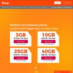 50% off First Month Yomojo Mobile and Mobile Broadband Plans (No Lock in Contract)