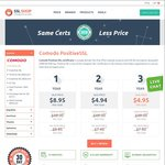 Comodo Positive SSL Certificate for 3 Years at $14.85 USD (~ $20 AUD) – CheapSSLShop.com