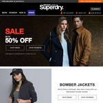 Superdry up to 50% off Sale + Free Delivery
