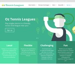 Oz Tennis Leagues Winter Season for $25 (Early Bird Promotion - $5 off) (Adelaide/ Brisbane/Canberra/ Melbourne/Perth/Sydney)