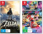 Zelda: BOTW & Mario Kart 8 Deluxe Bundle on Nintendo Switch - $111.96 + Delivery (or Click and Collect for $0) @ The Gamesmen