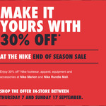30% off Storewide @ Nike (SA)