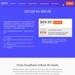 OVO Mobile Broadband - 100GB Optus 4G Data $69.95/30 Days