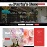The Party's Here Website Launch - Free Delivery on Orders over $100 & $10 off Next Order with Newsletter Sign Up