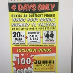 $49/Month (Save $10/Month) for 20GB/Month & Unlim Calls/SMS with Telstra + Bonus $100 Gift Card (12 Month Contract) @ JB Hi-Fi