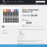 10 Marvy Uchida Fabric Markers - $8.00 + Free Delivery - The Office Shoppe
