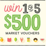 Win 1 of 5 $500 South Melbourne Market Vouchers from City of Port Phillip