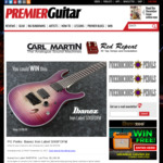"""Win an Ibanez """"Iron Label SIX6FDFM"""" Electric Guitar worth US$1,200 from Premier Guitar"""